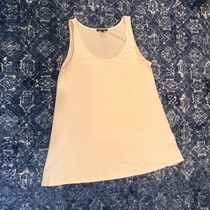 Eileen Fisher Silk Scoop Neck Tank Top Ivory Small